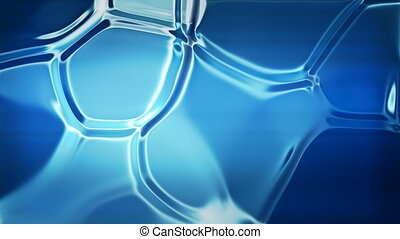 Blue liquid - Abstract blue refractions background seamless...