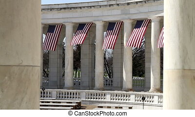 Arlington Amphitheater Flags Two - Arlington National...