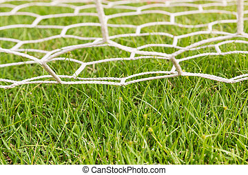 Back side the Goal football - Back side the Goal at the...