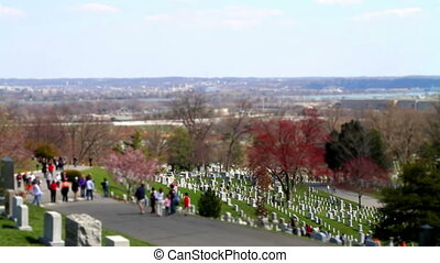 Arlington Cemetery tilt shift Washington DC