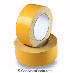 This wide, yellow, double-sided tape consists of transparent...