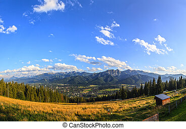 Panorama of the Tatras - A view of The Tatra Mountains and...