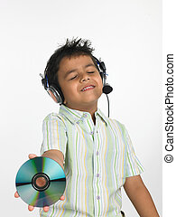 excited Asian boy of indian origin