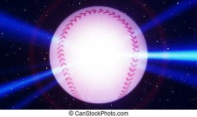 Baseball Blue Flare Looping Animated Background