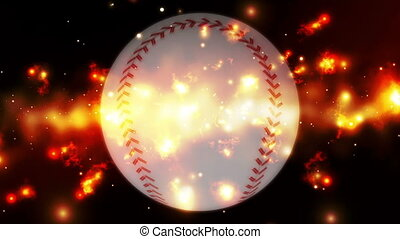 Baseball cosmic burn Looping Animated Background