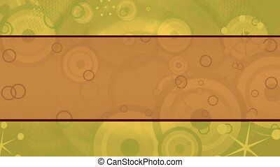 Green Orange Retro Vintage Loop