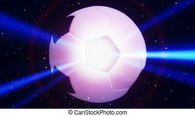 Soccer Blue Flare Abstract Looping Animated Background