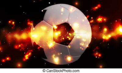 Soccer Cosmic Burn Looping Animated Background