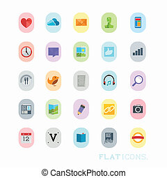 Colourful Icon Designs, modern vector set.