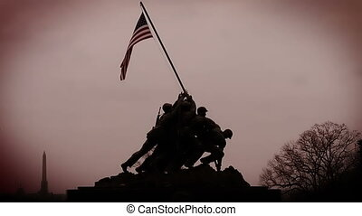 Iwo Jima Memorial Color Enhanced