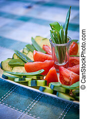 Veggies platter - Colorfull and fresh veggies platter