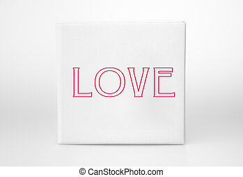 Love small white boxe  - Small white boxe with the word Love