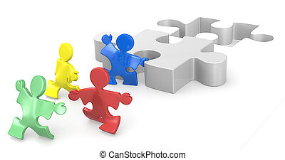 Effort and Result 1. - Puzzle People helping hands for...