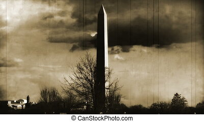 Washington Monument old footage - Washington Monument Under...