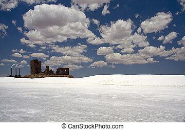 Desert of white