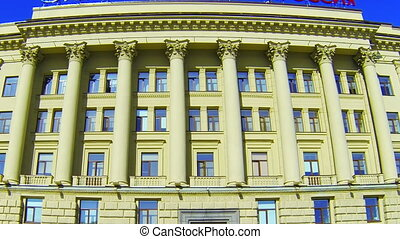 Facade of an old building in St. Petersburg. Shpalernaya...