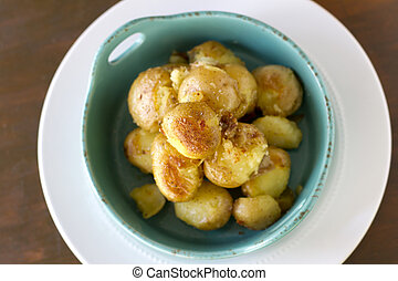 "Smashed Potatoes - ""Smashed"" potatoes that have been cooked..."