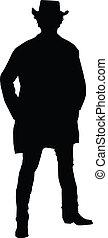 Cowboy Silhouette - Silhouette of a cowboy
