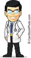 Cartoon of Doctor - A vector image of a doctor standing...