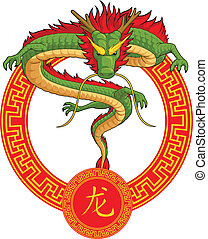 Chinese Zodiac Animal - Dragon - A vector image of a chinese...