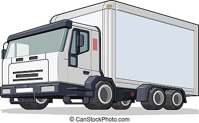 Delivery Truck - A vector image of a delivery truck. This...