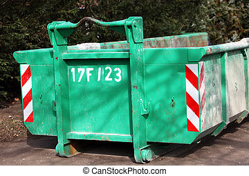 Green colored heavy dumper - Photograph of a green colored...