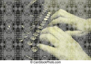 ghostwriter - eerie ghostwriter at the typewriter