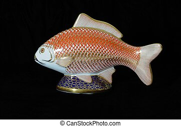 China fish paperweight - Painted china fish paperweight...