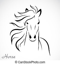 ベクトル, イメージ, 馬