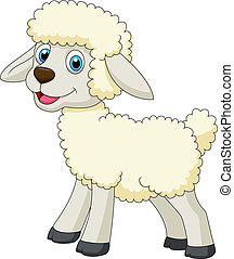 lindo, sheep, caricatura