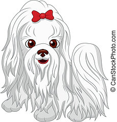 Cute dog cartoon - Vector illustration of Cute dog cartoon