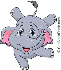 Cute elephant cartoon circus - Vector illustration of Cute...