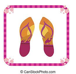 vector pair of flip flops