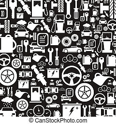 Car a background2 - Background made of cars. A vector...