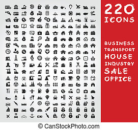 Collection of icons for design A vector illustration