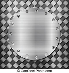 carbon background and circle plate