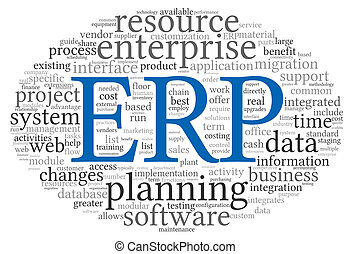 ERP in word tag cloud - Enterprise Resource Planning System...