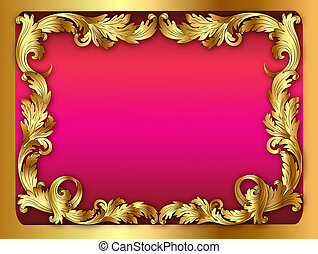 illustration of the pink background of the frame with the...