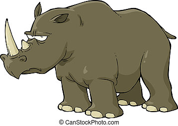 Rhinoceros on a white background vector illustration
