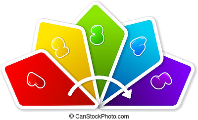 Organization chart - Colorful organization chart with steps...