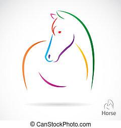 vector, imagen, caballo