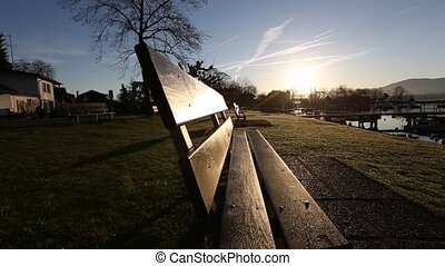 Bench and Sunrise