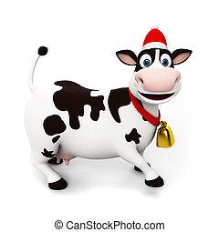 ENGRAÇADO, personagem, vaca