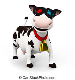 ENGRAÇADO, vaca, personagem