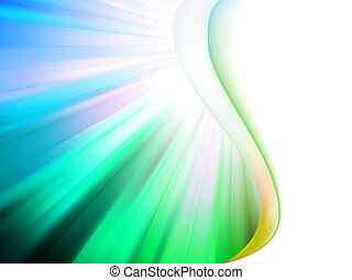 Colorful smooth twist light lines. EPS 8