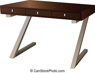 Writing Desk - Writing desk with three drawers for office...