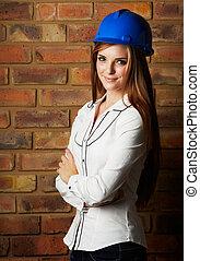 beautiful young architect - Beautiful young adult caucasian...