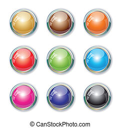 Set with colorful buttons.