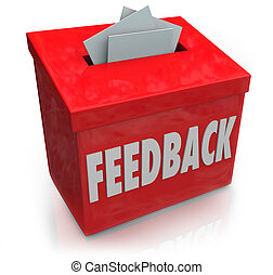 realimentação, sugestão, caixa,...