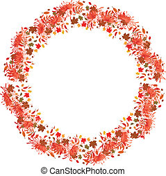 autumnal background - autumnal vector frame with...